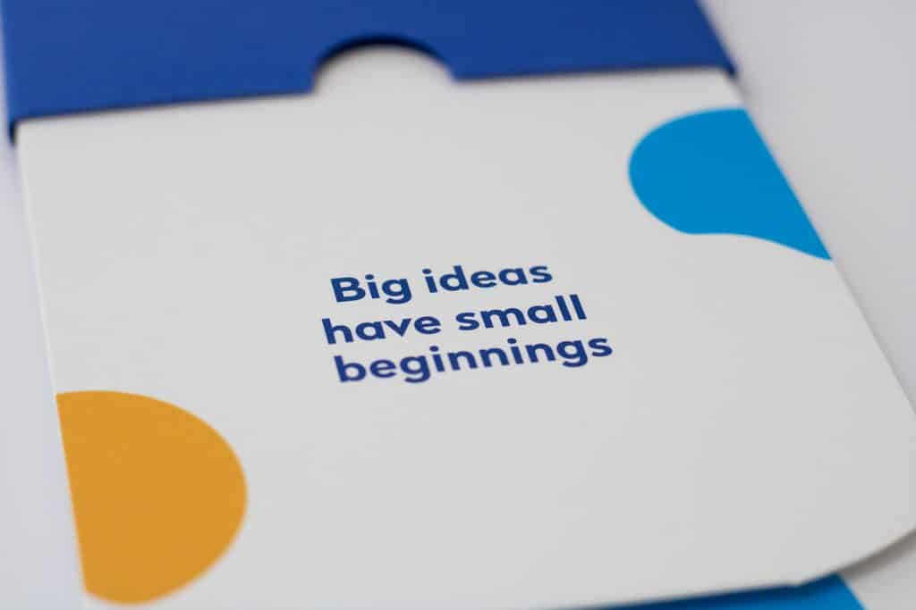 Tide Big Ideas Have Small Beginnings