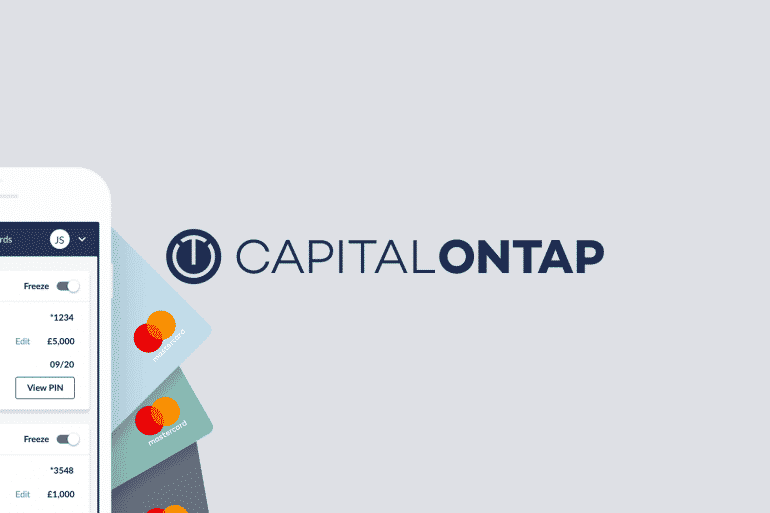 Capital on Tap - Logo on blue