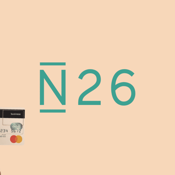 N26 Business logo and debit card